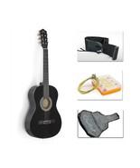 "38"" Black Acoustic Guitar Complete Combo Package - Guitar, Gig Bag, Stra... - $60.74"