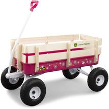 John Deere Steel Stake Wagon Carrier Ride On Storage Outdoor Wheeled Por... - $176.80