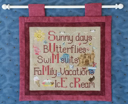 Summer Things cross stitch chart Waxing Moon Designs - $7.20