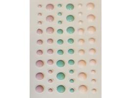 Pastel Dimensional Enamel Dots, Lavender, Pink, Green