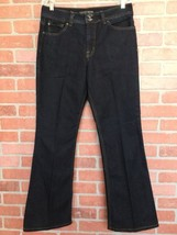 Nine West Women's Jeans Size 10 Dark Wash Flare Made In Egypt (3K34) - $17.81