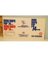 1974 Cincinnati Reds Baseball Schedule Marathon Gas & Oil - $18.76