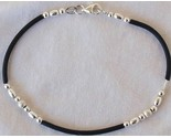 Trendy cauciu and silver bracelet thumb155 crop