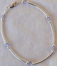 Light purple silver bracelet AB - $22.00