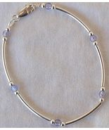 Light purple silver bracelet AB - $22.00