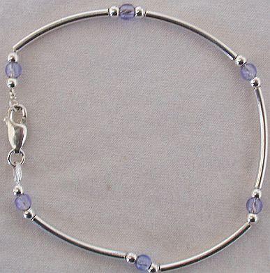 Light purple silver bracelet AB