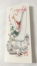 Girl Lady Cat Hallmark Christmas Vintage Card Musical Notes UNUSED With Envelope - $13.81