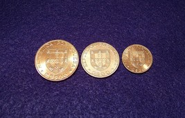 Portugal 1983 3-Coin Set, 2.5, 5 & 25 Escudos, Km-613, 618, 619,  F.A.O.... - $5.99