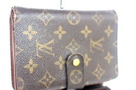 Auth LOUIS VUITTON Monogram canvas Leather Brown Bifold  Wallet France SP0071 - $118.80