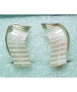 pink frost earrings thermset cbp - $8.00