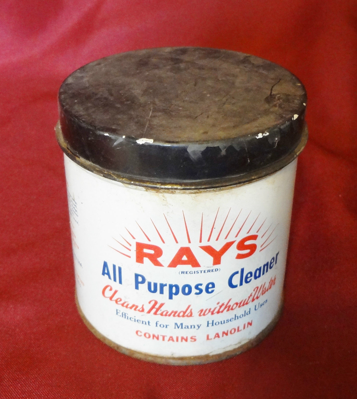 Rays All Purpose Cleaner 1961 Vintage Tin Empty  - $19.99