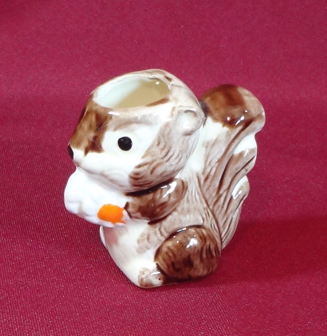 Enesco Japan Ceramic Squirrel Toothpick Holder Vintage 1980 - $9.99