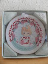 "1997 Precious Moments 4"" Christmas Porcelain Mini Plate  - $15.00"