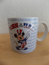 1986 Disney Born in the U.S.A. Mickey Mouse Coffee Cup  - $20.00