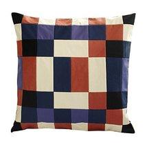 Black Temptation [Color Fusion] Handmade Canvas Decorative Pillow Unique Grid Cu - $38.50