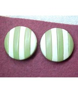 Modern pieced layer round button Earrings cb post - $6.00