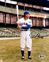 Ernie Banks Signed Chicago Cubs Batting Stance Pose 8x10 Photo - BECKETT - $197.01