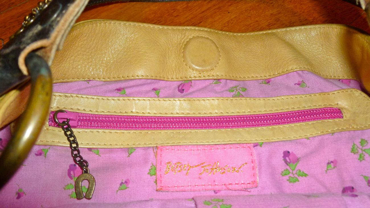 Betsy Johnson bag tan