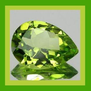 Peridot pear large 7.40x5.44 1.00ct