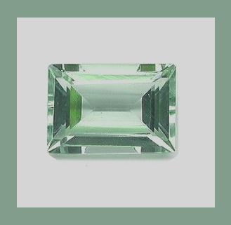 Prasiolite rectangle small outside 6.6x4.4 1.00ct