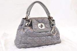 Christian Dior Nylon Hand Bag Glay Auth 6192 - $456.00