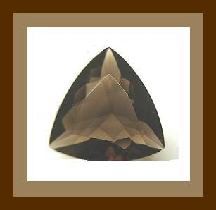 10.00ct Natural SMOKY QUARTZ Trillion Faceted Loose Gemstone