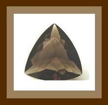 10.00ct Natural SMOKY QUARTZ Trillion Faceted Loose Gemstone - $16.99