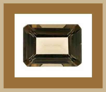 12.00ct Natural SMOKY QUARTZ Emerald Faceted Loose Gemstone