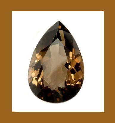Smoky quartz pear 16cts