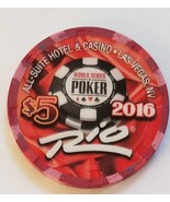 2016 World Series Of Poker $5 casino chip Rio Hotel Las Vegas Limited Edition - $9.95