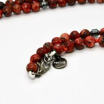 Silver Necklace 925 with Snake Burnished and Jasper Made in Italy by Maschia image 5