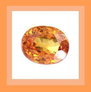 0.25ct Natural Orange SAPPHIRE Oval Faceted Loose Gemstone