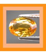 0.30ct Natural Orange SAPPHIRE Oval Faceted Loose Gemstone - $20.99