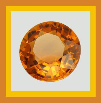 Sapphire round orange 4.8mm 0.50ct
