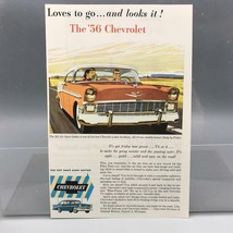Vintage Magazine Ad Print Design Advertising Chevrolet Automobiles 1956 - $12.86