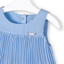 Mayoral Little Girls 2T-9 Light-Blue Pleated Triple Tier Social Dress image 3