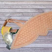 Basket Weave Tooled Action Company Equitation Chaps Black Size Medium image 3