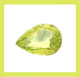 0.60ct Yellow Green SPHENE Pear Cut Faceted Loose Gemstone