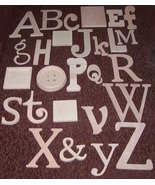 """Alphabet Set -Wooden Letters -Alphabet Wall-ABC Wall- UNPAINTED  12"""" to ... - $135.00"""