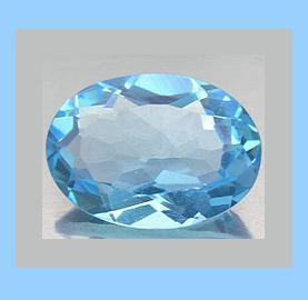 0.85ct Natural SWISS BLUE TOPAZ Oval Faceted Loose Gemstone