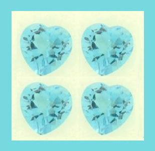 Blue topaz sky blue heart small 2ctw