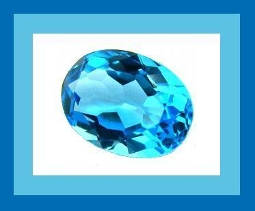 8.00ct Natural BLUE TOPAZ Oval Faceted Loose Gemstone