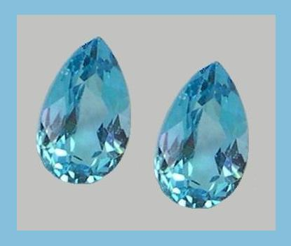 4.00ct Natural SWISS BLUE TOPAZ Pear Loose Gemstone Parcel