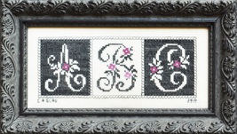Simple cross stitch chart Courtney Collection  - $10.80