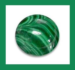 Natural Green MALACHITE 2.00ct Round Cabochon Loose Gemstone