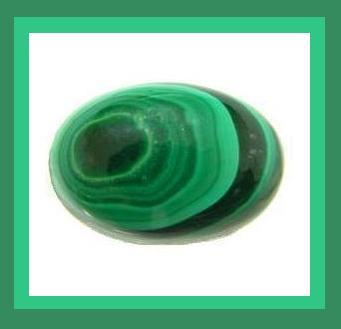 Natural Green MALACHITE 4.00ct Oval Cabochon Loose Gemstone