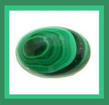 Natural Green MALACHITE 4.00ct Oval Cabochon Loose Gemstone - $14.99