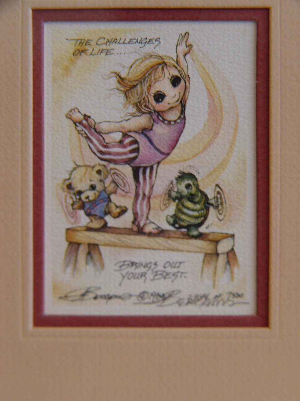 Signed, Ltd Watercolor by  Jody Bergsma FRAMED