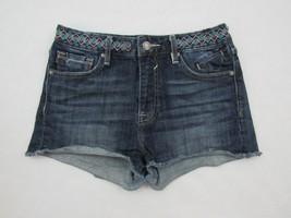 Vigoss Jagger Womens Stretch Blue Jean Cutoff Shorts Boho 27 x 2 Size 27 - $32.39