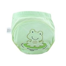Lovely Cartoon Animal Pattern Baby Elastic Cloth Diaper Cover (M,9-11KG,Frog)
